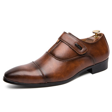 Men Retro Leather Non Slip Formal Shoes