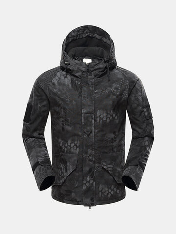 Outdoor Hooded Tactical Camo Thickened Jacket