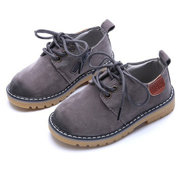 Unisex Kids Pure Color Zipper Flats