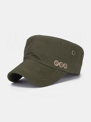 Hommes de couleur unie garder au chaud chapeau plat extérieur chapeau militaire