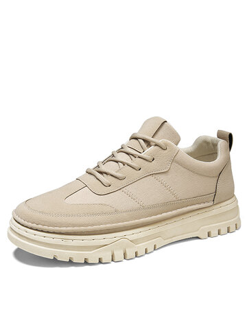 Men Casual Stitching Work Style Shoes