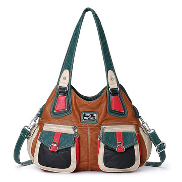 Donna Soft Crossbody casual multitasche in pelle Borsa
