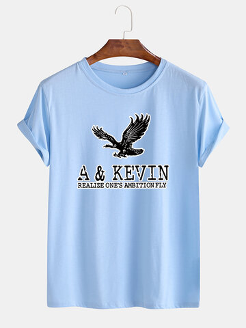 Eagle Graphic Print Loose Breathable T-shirt