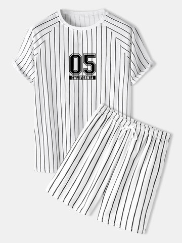 Number Stripe Varsity Outfits