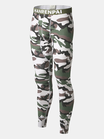 Camouflage Print Thermal Heated Pants