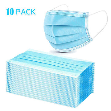 10PCS 3 Layers Non-woven Filter Bacteria Face Mask