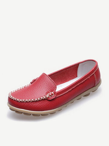 Pure Color Flat Shoes Loafers