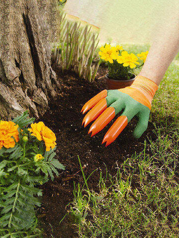 Practical Green Garden Gloves With 4 Claws Easy Planting Durable Safe For Rose Pruning Gloves Mittens Garden Gloves