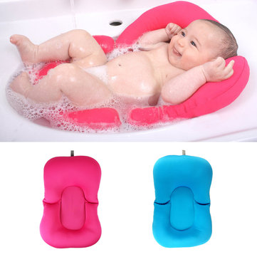 Bebé Bañera Pillow Pad Lounger Cojín de aire Floating Soft Seat Bebé Recién nacido Anti-slipt Bath Pillow