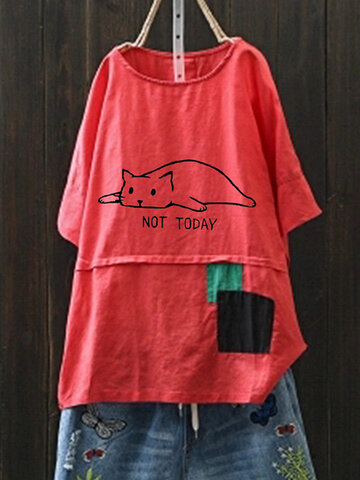 Cartoon Print Casual Cute T-Shirt