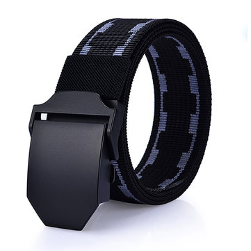125cm Men New Canvas Nylon Waistband Durable Outdoor Sports Casual Automatic Buckle Belt фото