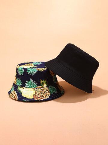 Women & Men Fruit Print Bucket Hat