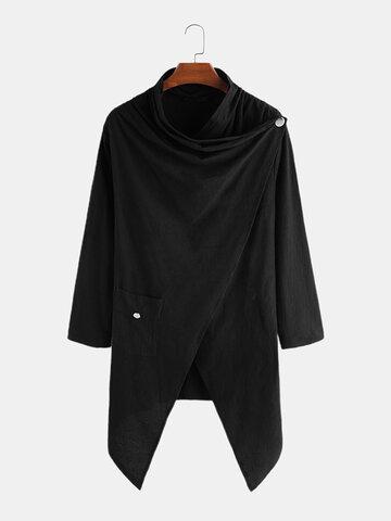 100% Cotton Irregular Blouse Cardigans