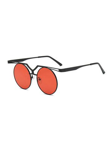 Resin Retro Polarized Aviator Dark Sunglasses