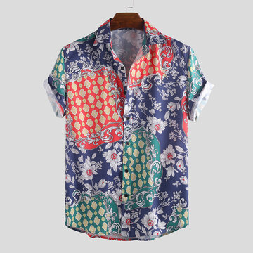 Mens Summer Floral Printed Shirts