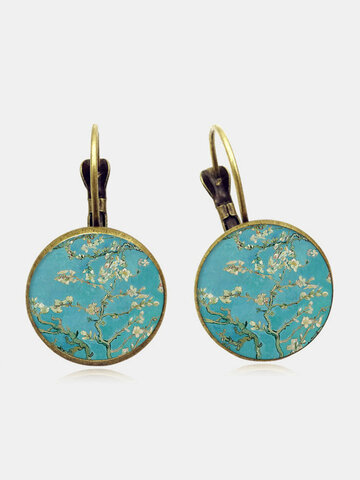 Plum Blossom Pattern Earrings