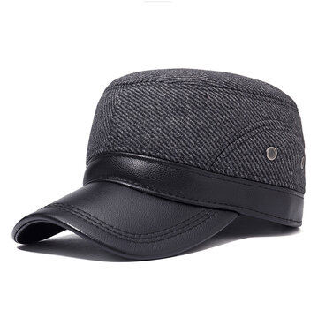 Men Winter Flat Cap