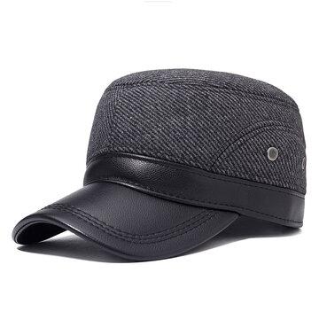 Herren Winter Flat Cap