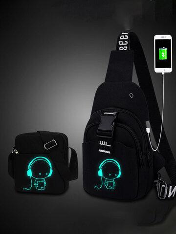 Oxford Brusttasche mit USB-Ladefunktion
