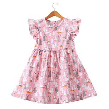 Animal Pattern Girls Dress For 2-11Y