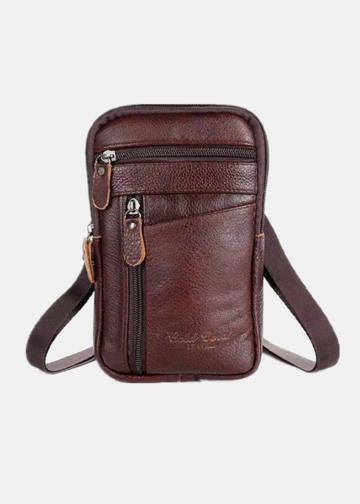 Genuine Leather Multi-carry 6.5 Inch Phone Bag Crossbody Bag Waist Bag Sling Bag