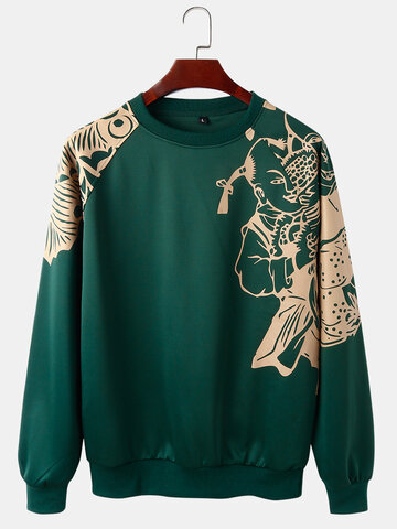 Paper-Cut Art Print Sweatshirts