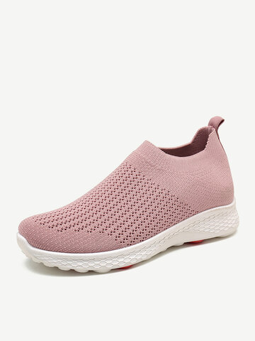 Big Size Women Mesh Breathable Comfy Flat Sneakers
