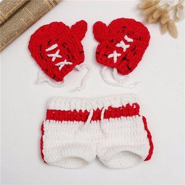 Newborn Baby Girls Boys Kids Crochet Knit Costume Photo Photography Prop Outfits
