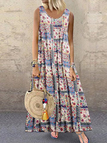 Print Sleeveless Summer Dress
