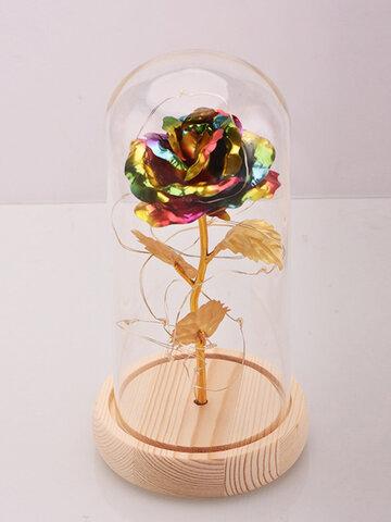 Rose Glass Cover + LED Light
