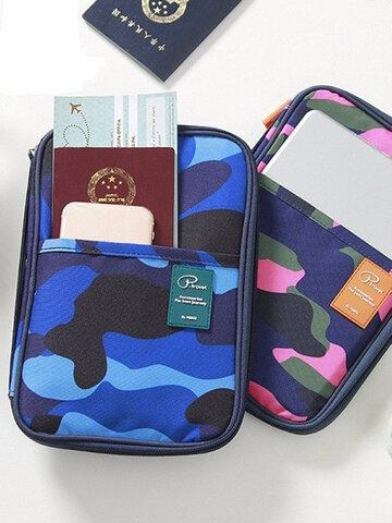 Multifuntional Camouflage Card Handbag Storage Bag Passport  Ipad Holder
