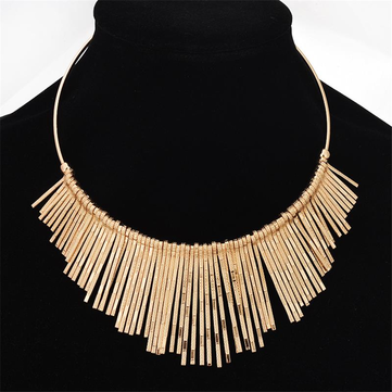 Statement Choker Tassels Necklace