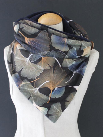 Women Casual All-match Thick Warmth Shawl Printed Scarf