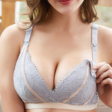 Lace Anti Sagging Wireless Nursing Bras