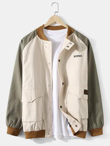Contrast Patchwork Applique Jackets