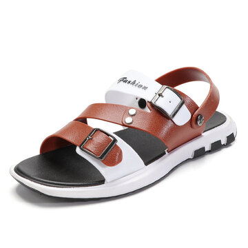 Men Metal Buckle Casual Beach Sandals