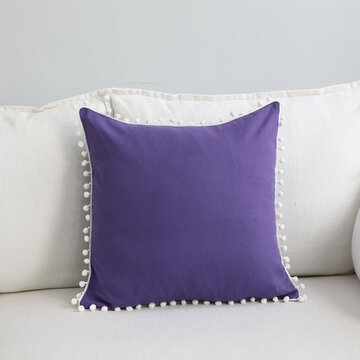 Pure Color Soft Decoration Pillowcase, Navy blue gray