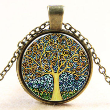 Vintage Tree of Life Charm Necklace