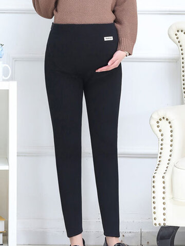 Pregnant Women Winter Warm Thick Pants