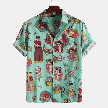 Mens Funny Cartoon Printed Shirts