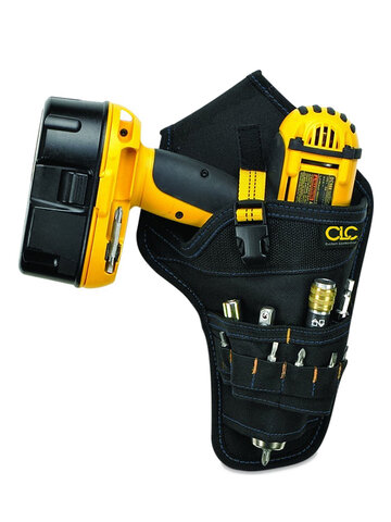 Portable Heavy Duty Drill Driver Holster Cordless Electrician Tool Bag Bit Holder Belt Pouch Waist Cordless Drill Storage Pocket