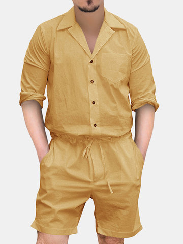 Retro Breathable Slim Fit Pajamas Set
