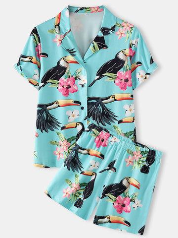 Pyjama imprimé de grande taille