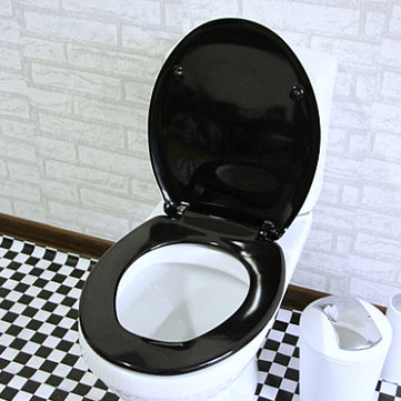 Black Slow Closing Toilet Seat Cover Lid фото