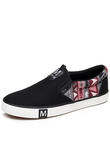 Men Fabric Slip On Casual Shoes