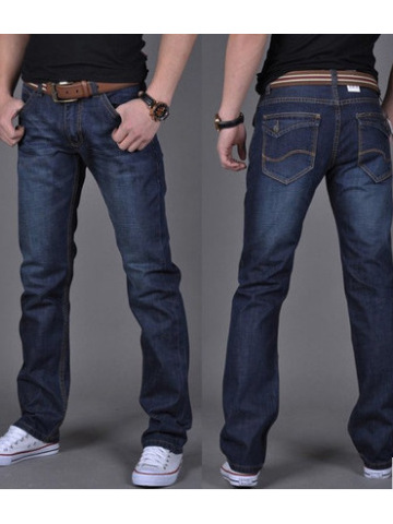 Men's Jeans Men's Loose Large Size Straight Men's Jeans Men's Long Pants