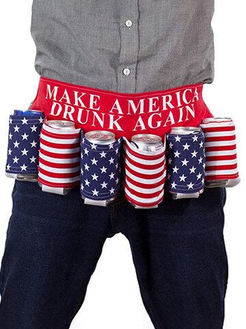 Neuartige USA America Themed Drink Stand Biergürtel Getränkehalter Kreative Picknick Party Universal Drink Belt