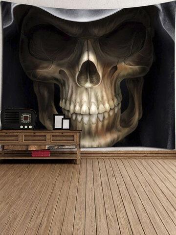 Cartoon Skull Printed Wall Hanging Tapestry
