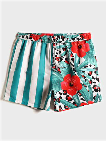 Tropical Patchwork Board Shorts