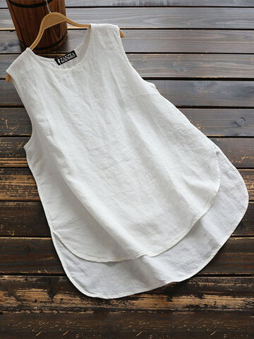 Cotton Solid Color Tank Top